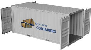 Aquitaine-containers: container 20 pieds double door