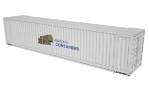 Aquitaine-containers: container 45 pieds pallet wide