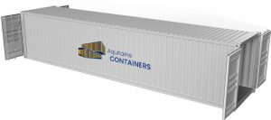 Aquitaine-containers: container 40 pieds double door