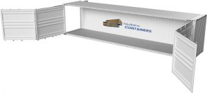 Aquitaine-containers: container 40 pieds open side