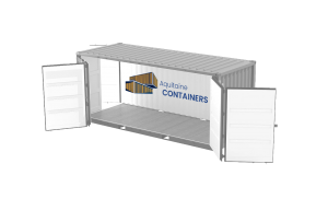 Aquitaine-containers: container 20 pieds open side