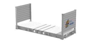 Aquitaine-containers: container 20 pieds flat rack