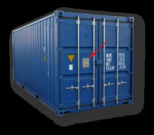 Aquitaine-containers: container avec plaque CSC