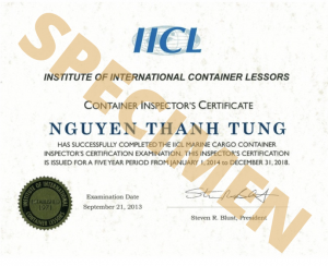 Aquitaine-containers: certification IICL