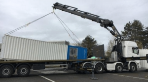 Aquitaine-containers: déchargement container