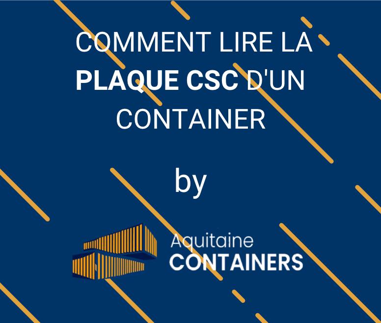 Aquitaine-containers: Comment lire une plaque csc d'un container