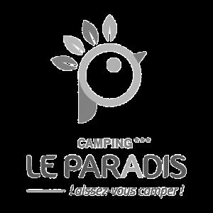 Aquitaine containers: logo camping le paradis