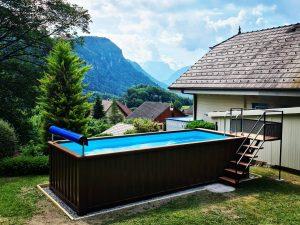 piscine hors-sol containers netbox aquitaine